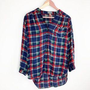 Market & Spruce plaid oversized button down shirt